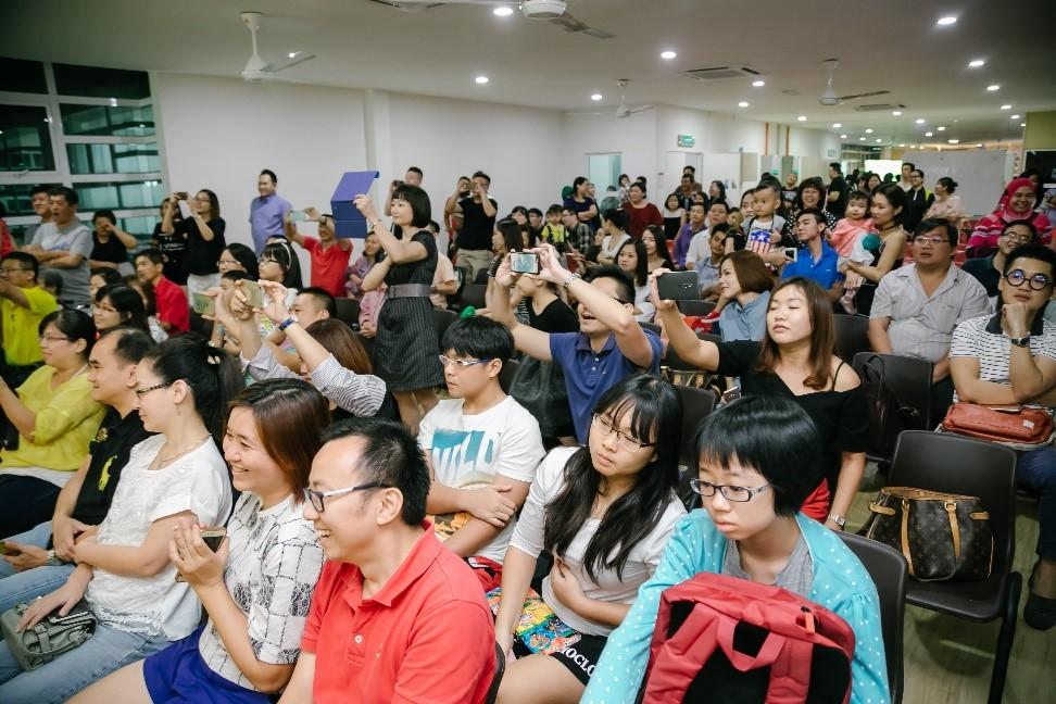 Audience enjoyed the performances.
